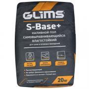 Наливной пол быстротвердеющий Glims S-Base+, 20 кг