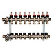Гребенка для напольного отопления c ротаметрами Oventrop Multidis SF, на 9 контуров