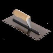 Гладилка нержавеющая зубчатая 4х4 мм, 130х280 мм
