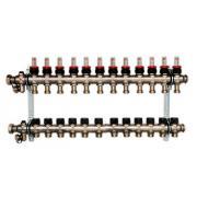 Гребенка для напольного отопления c ротаметрами Oventrop Multidis SF, на 11 контуров