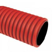 Гофротруба цветная ПВХ 32 мм (красная), 50 м