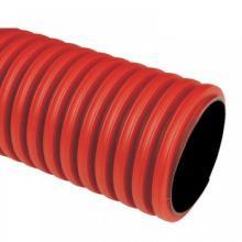 Гофротруба цветная ПВХ (красная), диаметр 20 мм