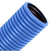 Гофротруба цветная ПВХ (синяя), диаметр 25 мм
