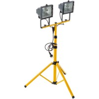 2 Прожектор 500W на штативе желтый 65-160см FL-1008A