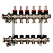 Гребенка для напольного отопления c ротаметрами Oventrop Multidis SF, на 6 контуров