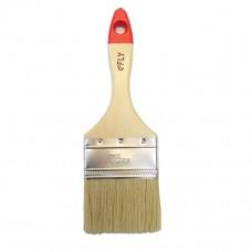 Кисть плоская с деревянной рукояткой и натуральной щетиной, ширина 75 мм