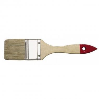 Кисть плоская с деревянной рукояткой и натуральной щетиной, ширина 25 мм