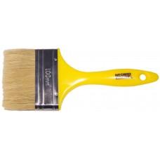Кисть плоская с пластиковой рукояткой и натуральной щетиной, ширина 100 мм