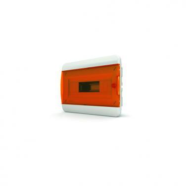Щит встраиваемый TEKFOR 12 модулей IP41, прозрачная оранжевая дверца