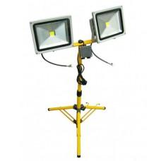 2 Прожектор 30W на штативе желтый 65-160см FL-1008A